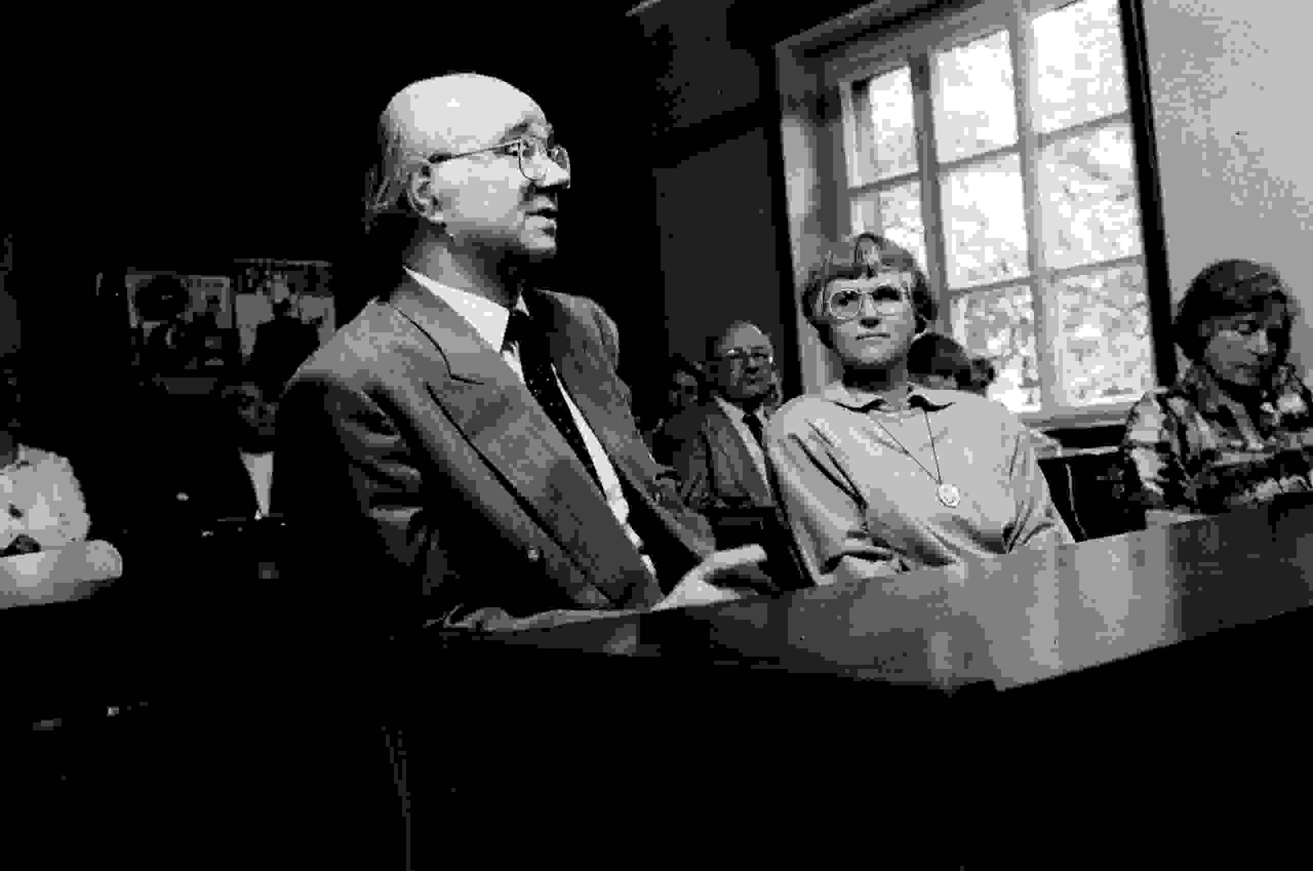 Heinz Schönemann bei der Verteidigung seiner Promotion B (Dr. Sc.) an der Humboldt-Universität Berlin 1990