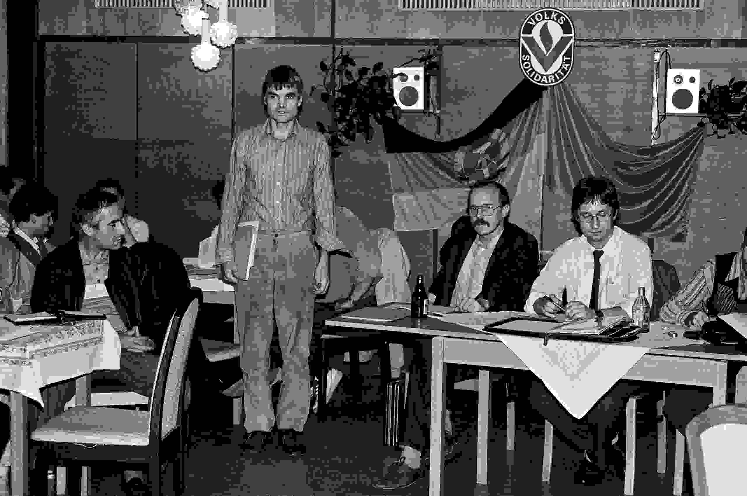 Rudolf Tschäpe im Klub der Volkssolidarität Potsdam 1989