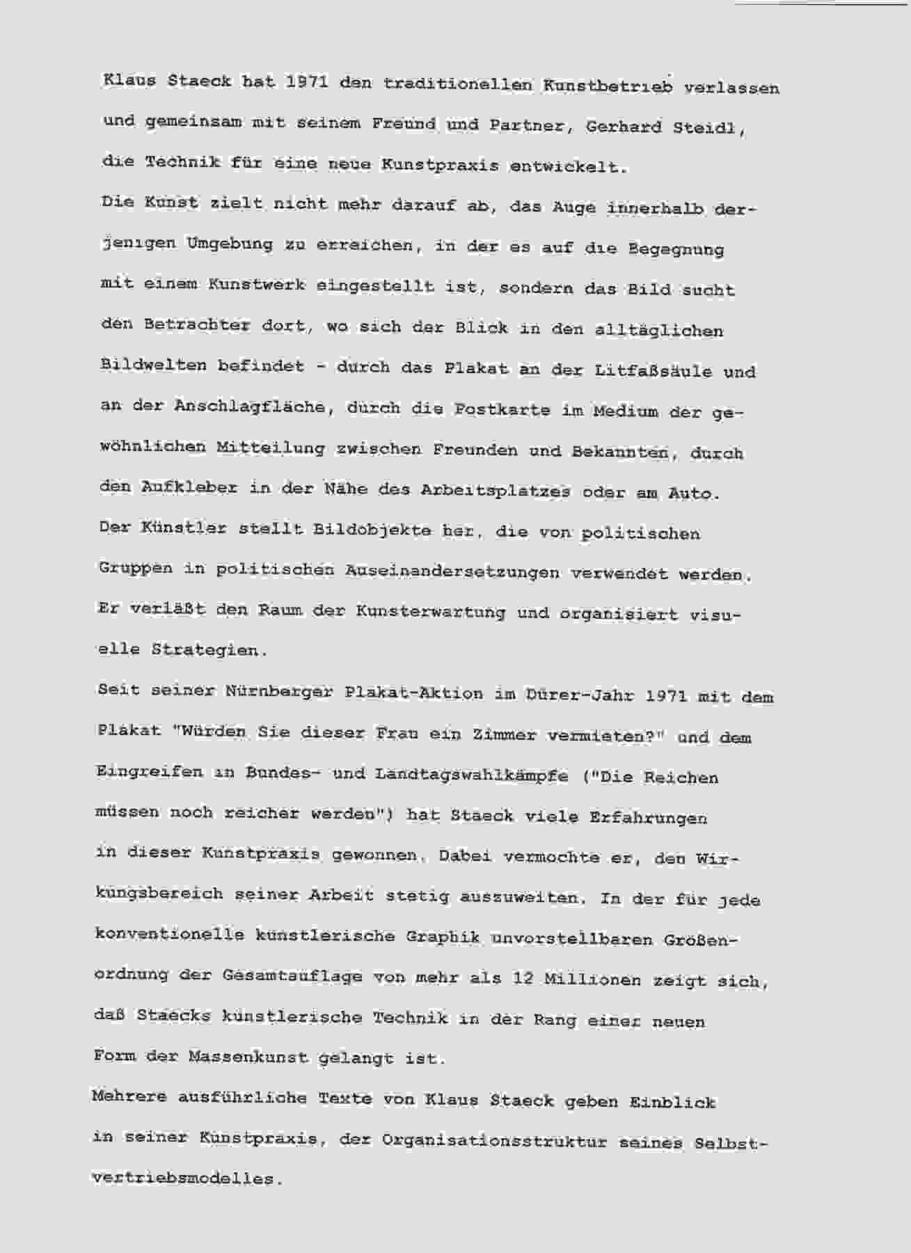 Eröffnungsrede von Rudolf Tschäpe anlässlich der Ausstellungseröffnung in der Otto-Nuschke im Mai 1990