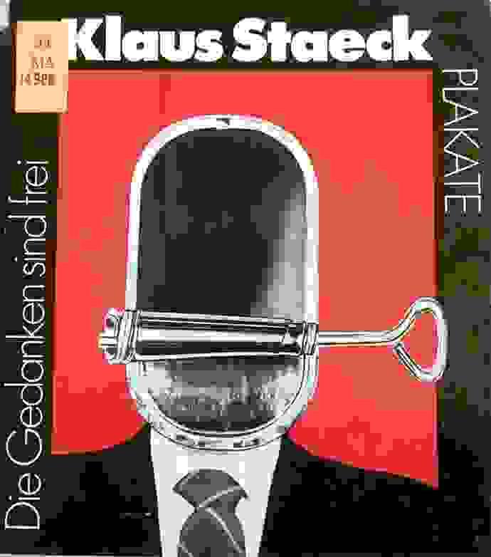 Buchcover von »Die Gedanken sind frei«, eine Edition von Plakaten Klaus Staecks