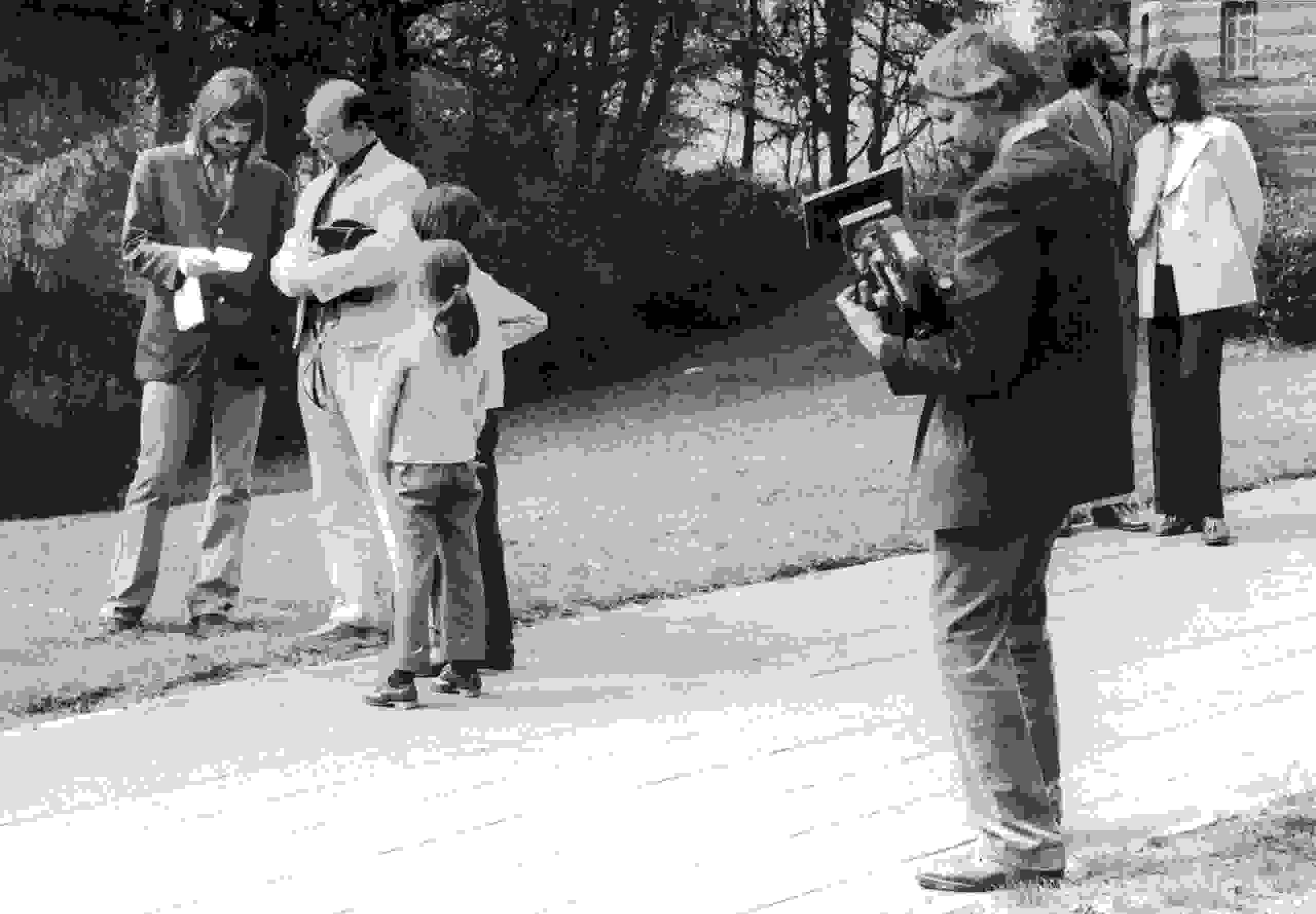 Rudolf Tschäpe und Heinz Schönemann am Astrophysikalischen Institut Potsdam, 7. Mai 1974