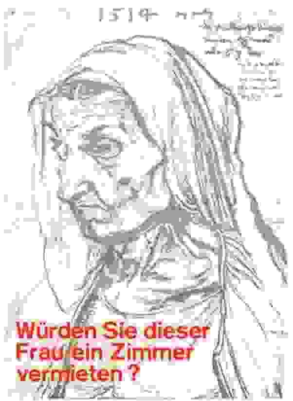 Würden Sie dieser Frau ein Zimmer vermieten? Plakat Klaus Staeck 1971, Edition Staeck
